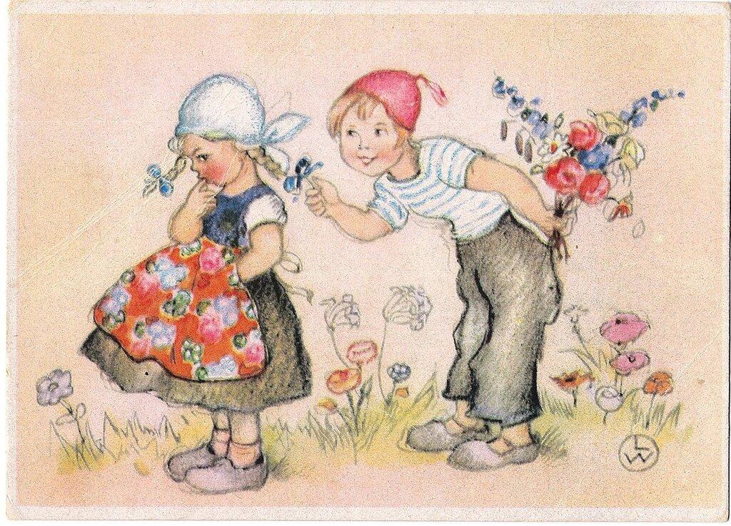Картинки про, немецкие старые открытки с днем рождения