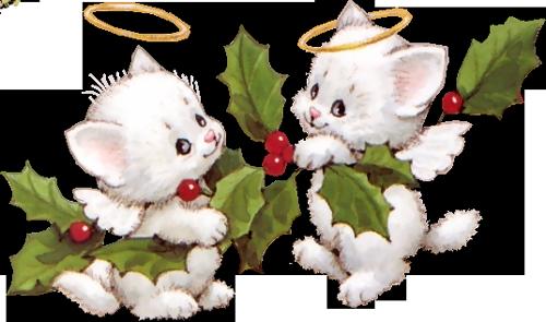 Веселые котейки....к Новому году...