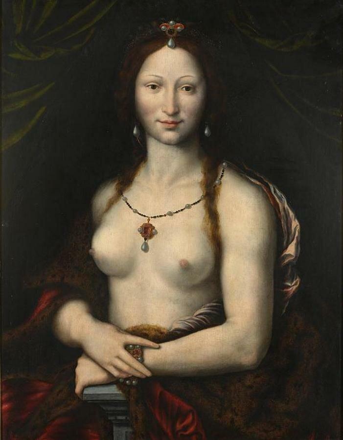 Mona Vanna Nuda,16th century_Joos Van Cleve