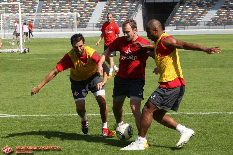 Игровая тренировка «Спартака» на сборе в Эмиратах (Фото)