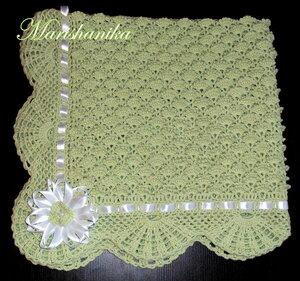 Bebek battaniyesi örneği kurdelalı