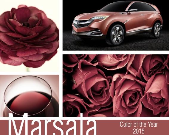 Цвет года 2015 Marsala