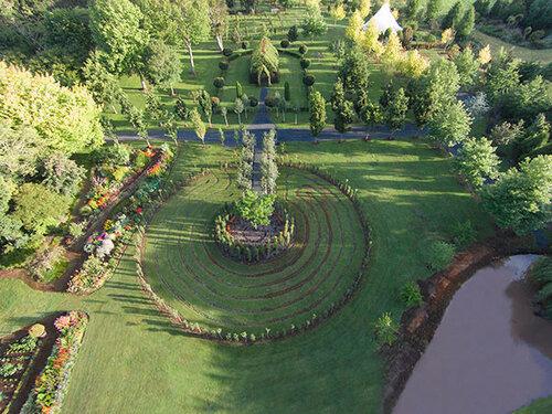 Церковь из деревьев в Новой Зеландии