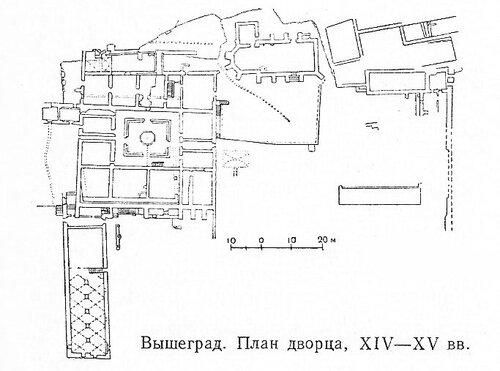 Дворец в Вышеграде, чертежи