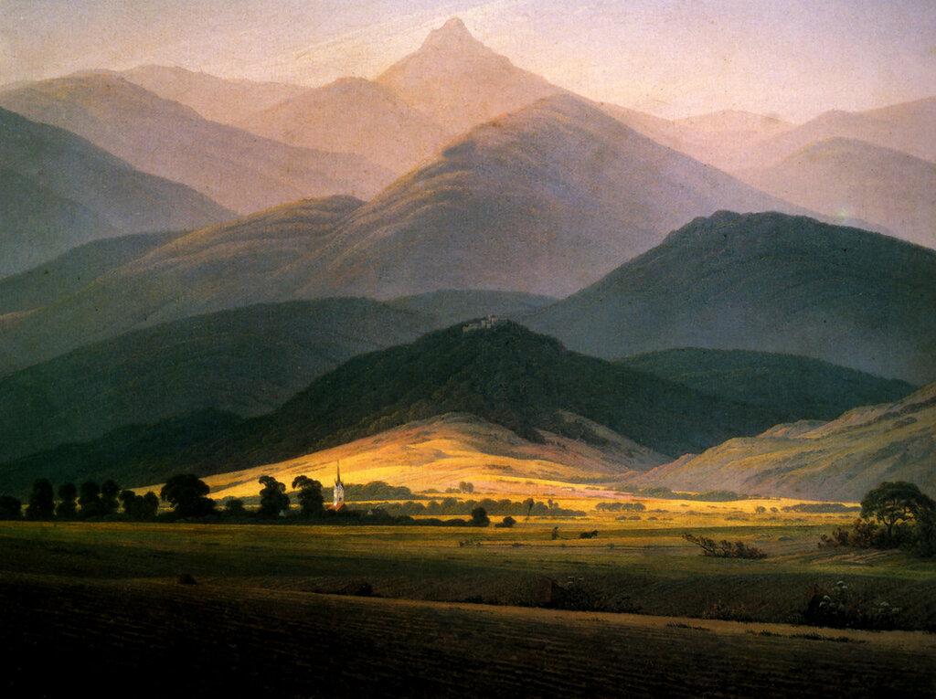 Paysage du Riesengebirge  Huile sur toile (1811) 45x58, 3cm Moscou, musée Pouchkine.jpg