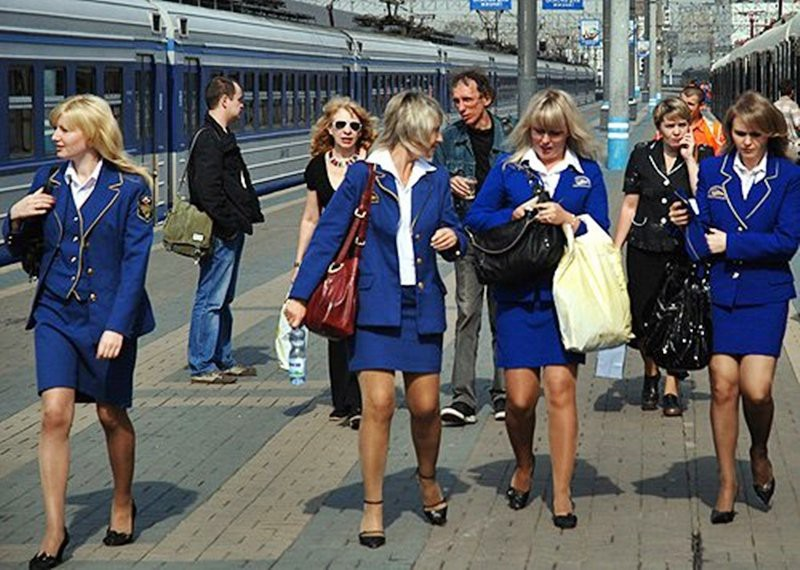 Проводницы Российских Железных Дорог