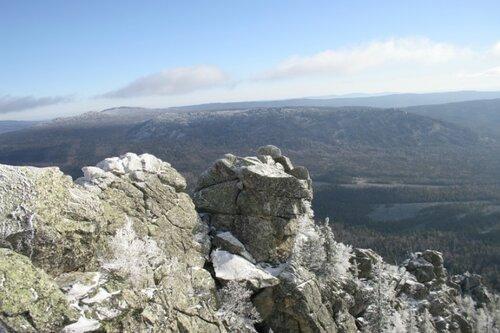 Большая каменная река и Средний таганай