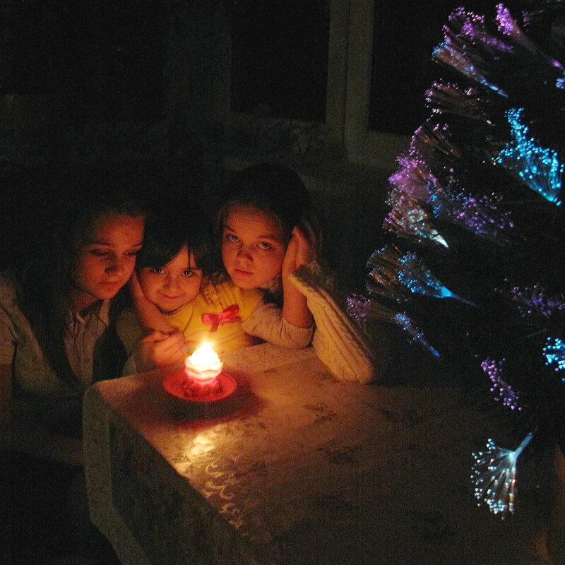 Зима,с.Остров,Крещенские праздники