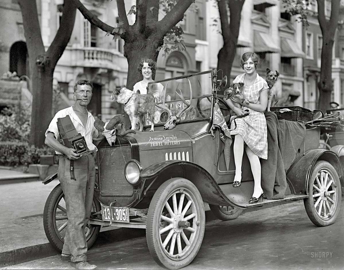 Зоопарк на колесах от одного из зоомагазинов (Вашингтон, 1927 год)