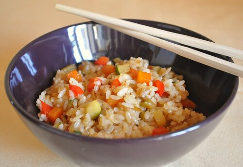 Рис с овощами Яки