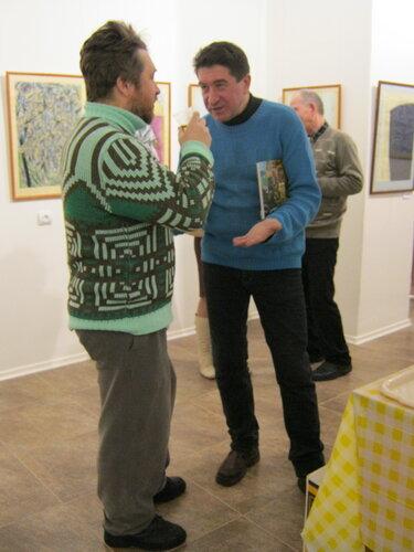 Егоров и Пётр Засухин о чем-то спорят