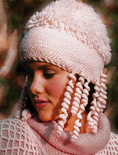 вязаная шапка для зимы