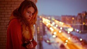 Яна и город город, Чебоксары, вечер, девушка, портретф