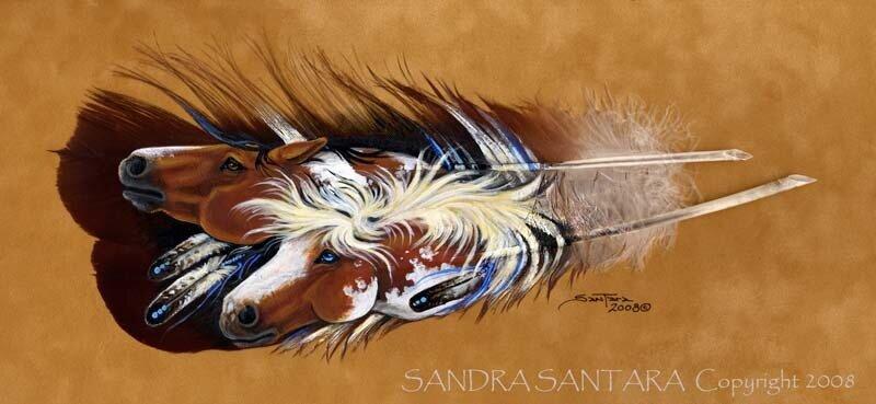 Sandra San Tara (рисунки на перьях)