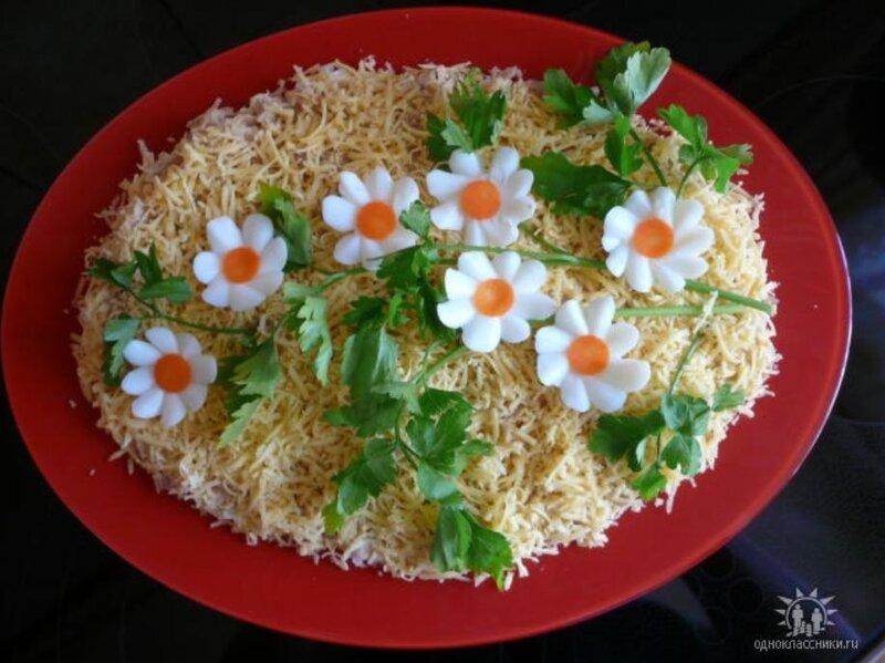 Украшение для салатов с фото