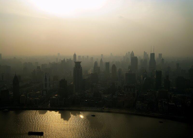 Шанхай, вид с башни Жемчужина Востока.