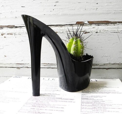 Devil Woman. stiletto cactus planter