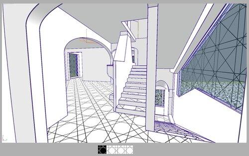 коридор, гостиная, камин, витраж Картье, балкон, эркер 135, арка эллипс  витраж dior ledy grey 28 36
