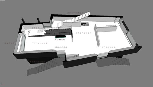 Дом особняк, благоустроенный дом коттедж, каминная гостиная в доме со свободной планировкой. Благовещенка Пятницкое 12 -30 011