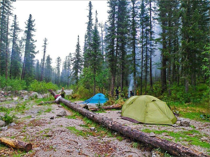 Наш лагерь на Стрелке
