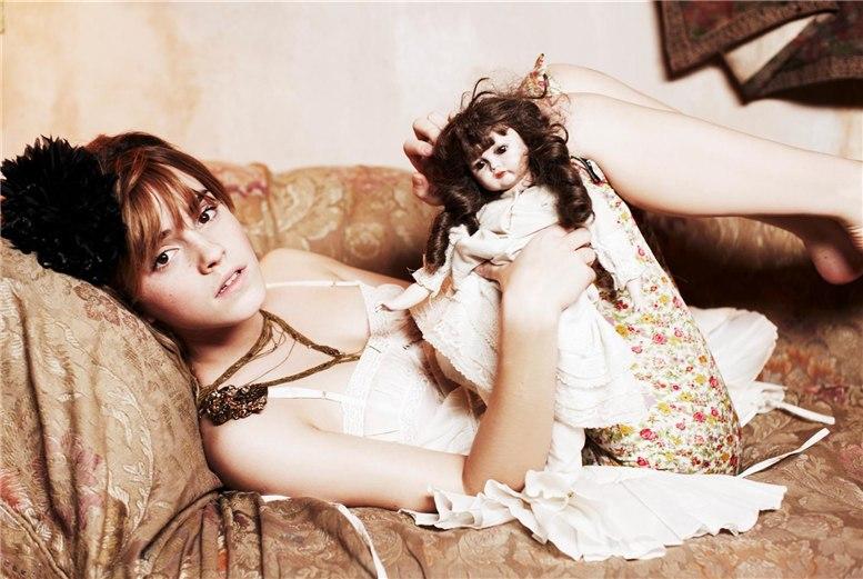 модель Эмма Уотсон / Emma Watson, фотограф Ellen von Unwerth