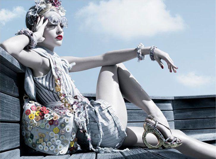 модель Sasha Pivovarova / Саша Пивоварова, фотограф Michael Thompson