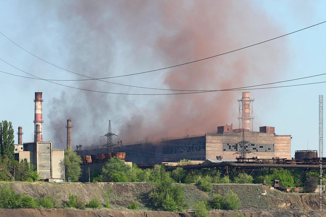 чадящий цех завода Красный октябрь