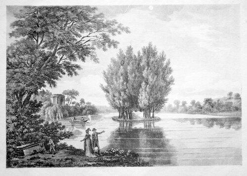 Эрменонвиль, вид на Тополиный остров