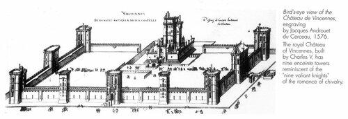 Венсенский замок, общий вид, гравюра