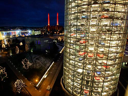 Башни-гараж|Autostadt Automated Parking Garage Towers|Volkswagen|Wolfsburg