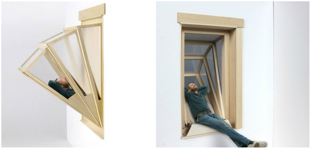 Аргентийский дизайнер Алдана Гарсия представляет концепт окна-трансформера, накоторое можно прилечь