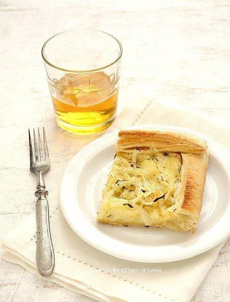 картофельный пирог с моцареллой