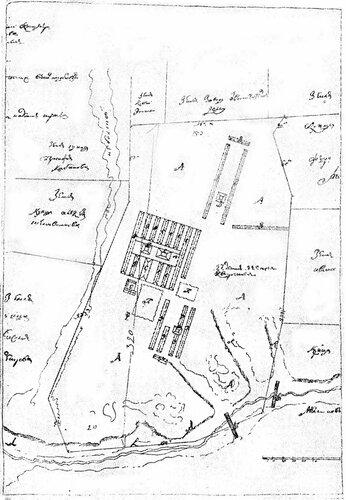 Рисунок 94. План кирпичного завода вблизи села Троицкого (ЦГАДА).