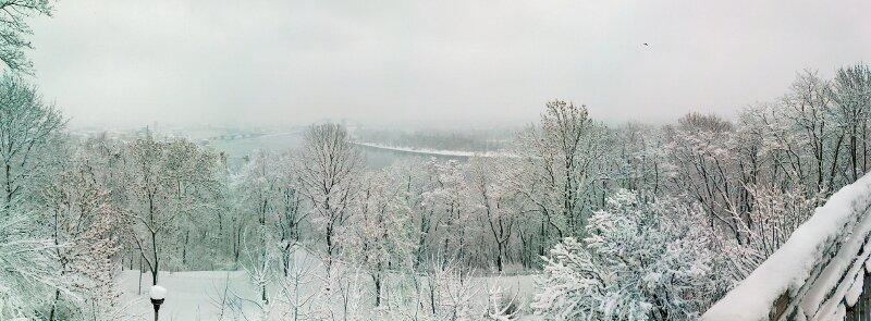 Зимняя панорама Владимирской горки