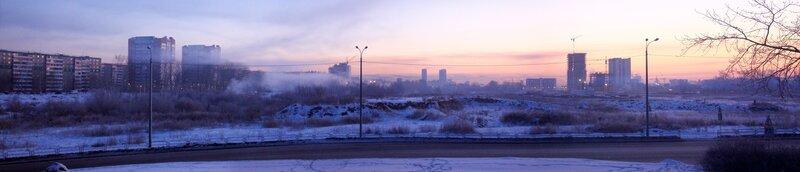 Челябинск. вид с моста через Миасс.
