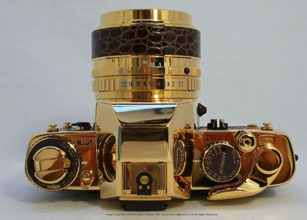 Pentax LX Gold, фотоаппарат из чистого золота