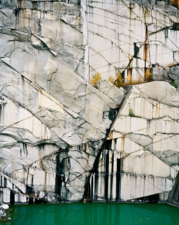 Rock of Ages.Abandoned Section, Adam-Pirie Quarry, Barre, Vermont, 1991