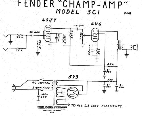 Fender Champ Schematic
