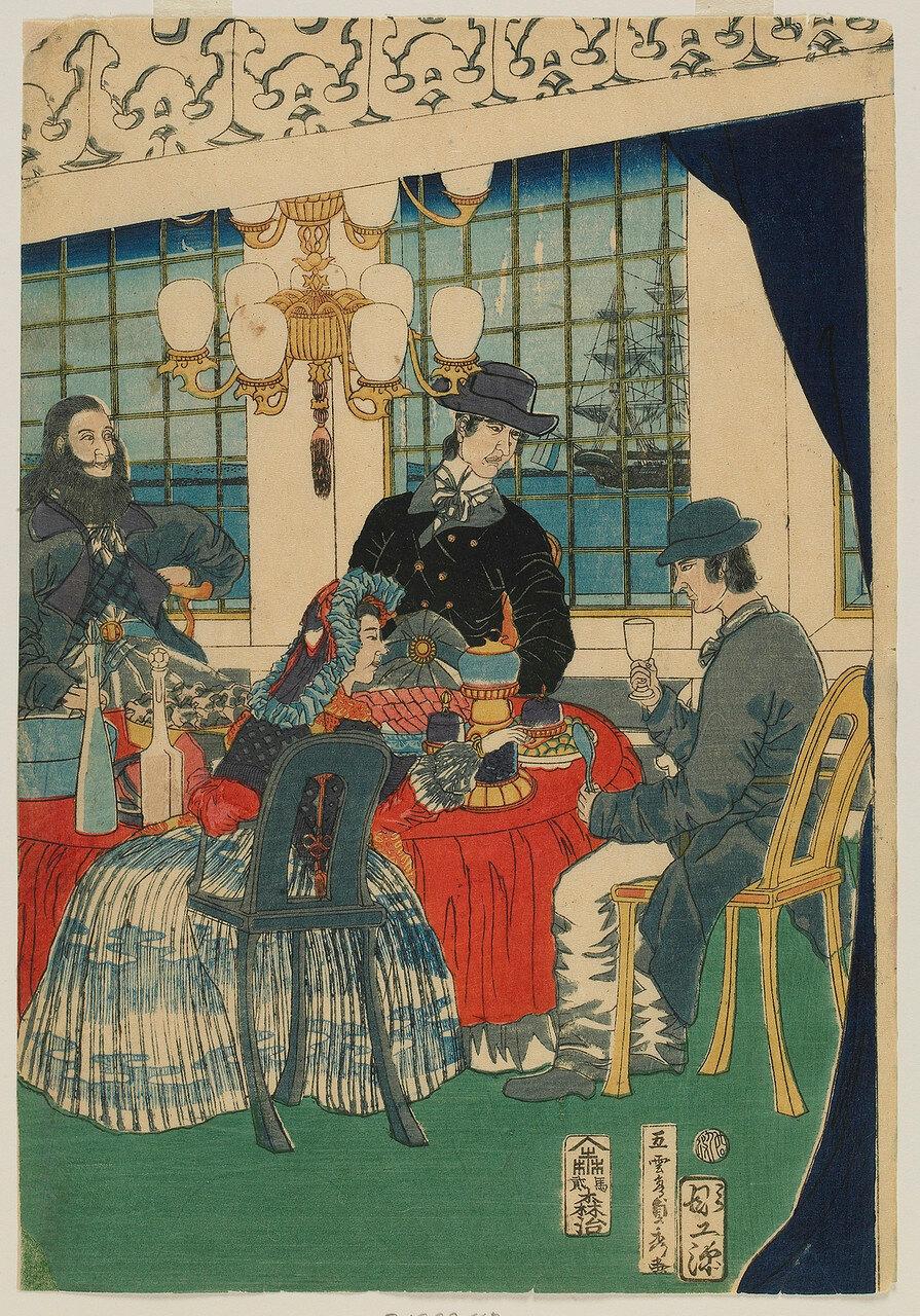 1861. Комната в иностранной торговой фирме в Йокогаме