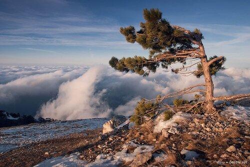 Крым зимой, горные пейзажи, Ай-Петри