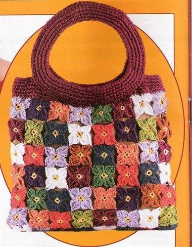 сумки-кожа и вязание крючком.