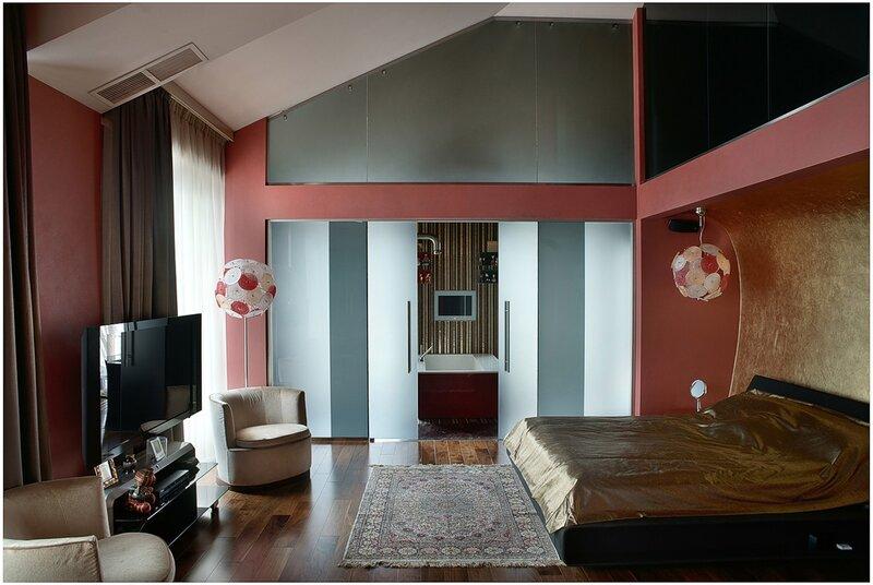 профессиональная фотосъемка спальни. фотографии интерьера квартиры