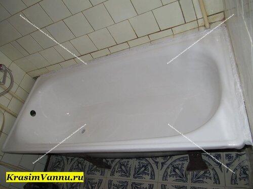 Эмалированная ванна Москва krasimvannu.ru ПОСЛЕ эмалировки
