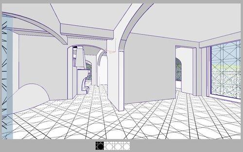 Столовая, Кухня, коридор, камин, лестница на второй этаж, коттедж 28 40