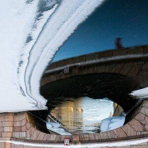 Два с половиной (лед, отражение)