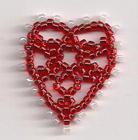 Валентинка из бисера