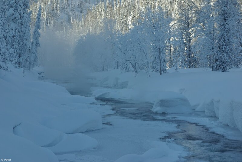 Кому морозного воздуха! Солнце, горы, белый снег