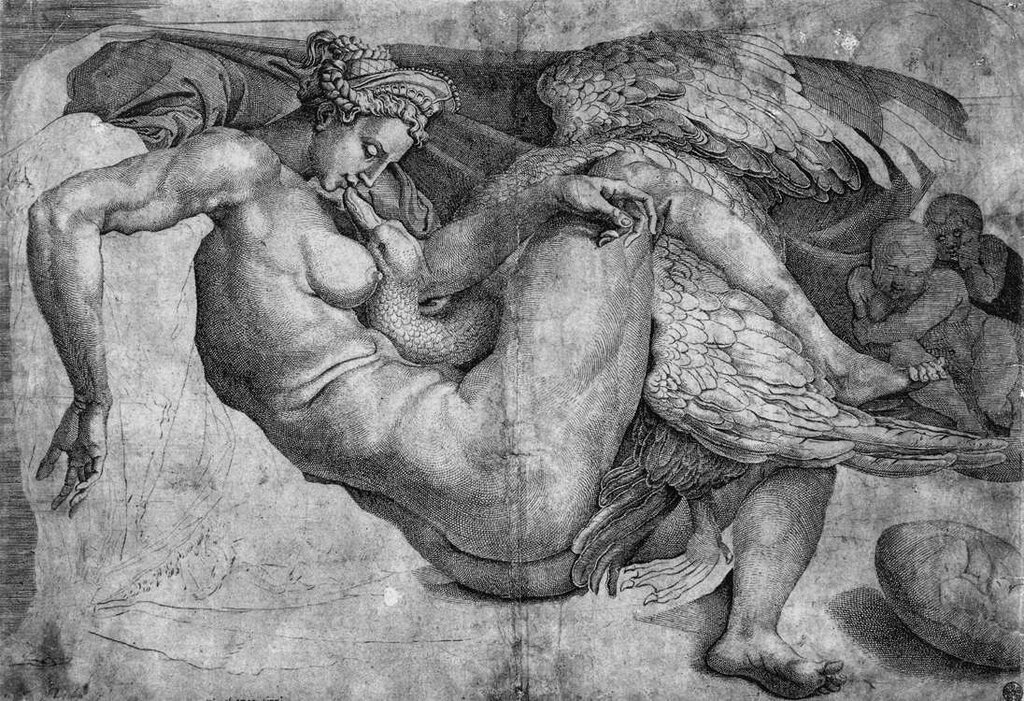 Leda and the Swanby MICHELANGELO BUONARROTI