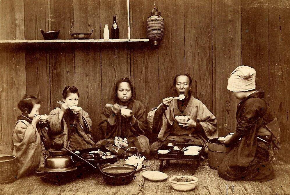 Old Japan.Время обеда