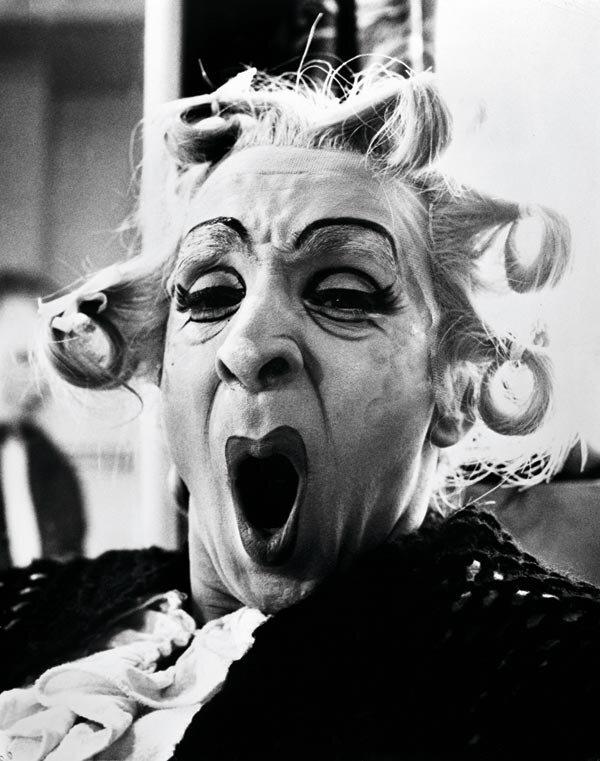 Freddy DalgettyRonald Emblen as Widow Simone in his Dressing Room, Royal Opera House, London,1964